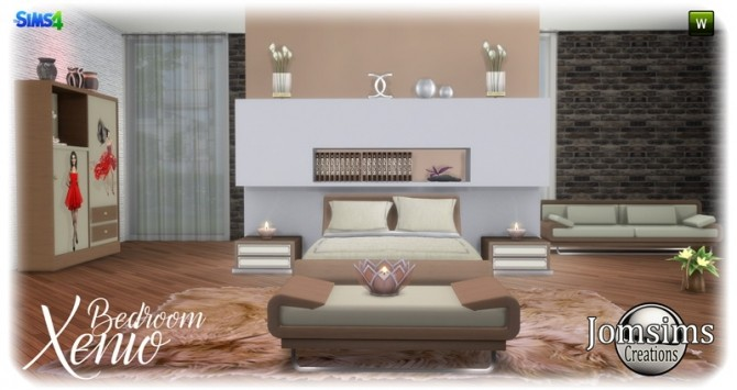 Xenio bedroom at Jomsims Creations image 1097 670x355 Sims 4 Updates