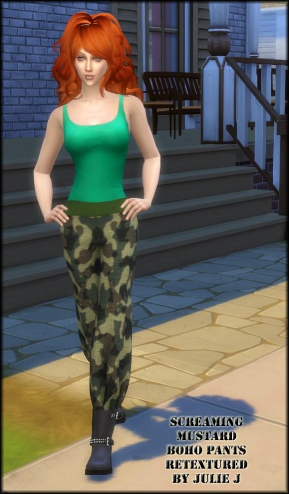 Sims 4 ScreamingMustard's Boho Pants Retextured at Julietoon – Julie J