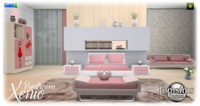 Xenio bedroom at Jomsims Creations image 1109 670x355 Sims 4 Updates