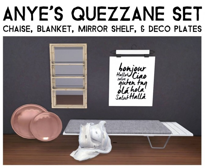 Sims 4 Quezzane Set Updated by Sympxls at SimsWorkshop