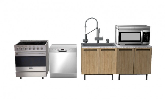 Nathan Set Appliances (New Meshes) at Daer0n – Sims 4 Designs image 112 670x404 Sims 4 Updates