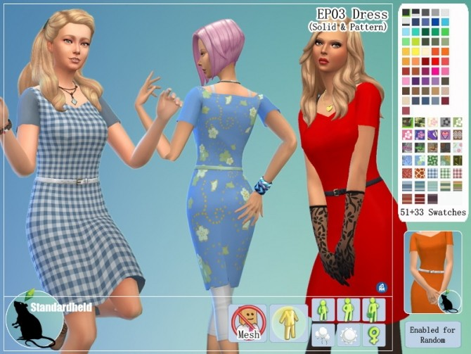 EP03 Dress by Standardheld at SimsWorkshop image 11211 670x503 Sims 4 Updates
