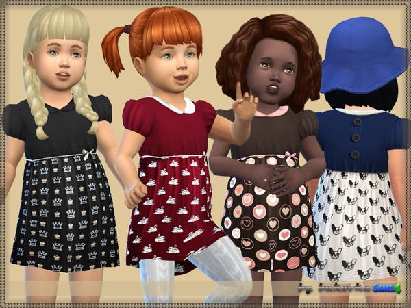Sims 4 Dress Small Print by bukovka at TSR