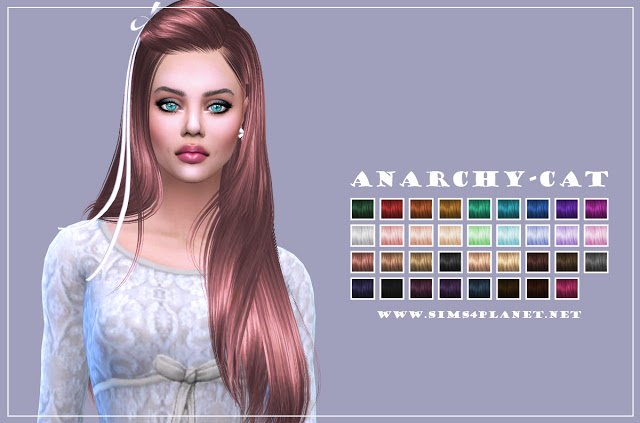 Butterfly Hair 099 recolors at Anarchy Cat image 1131 Sims 4 Updates