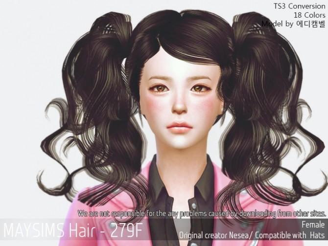 Sims 4 Hair 279F (Newsea) conversion at May Sims
