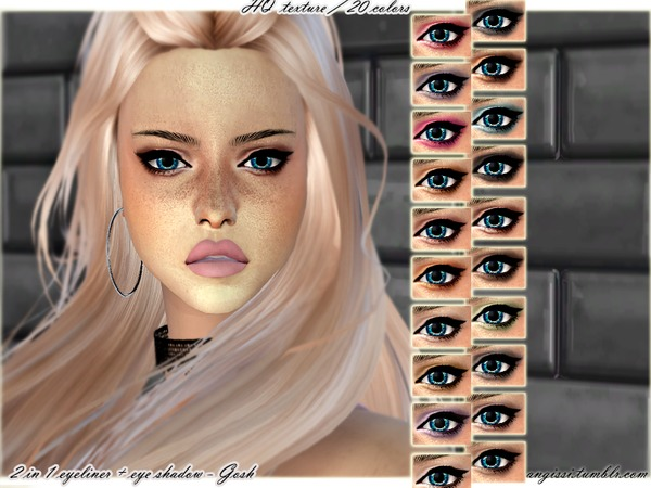 2 in 1 eyeliner + eye shadow Gosh by ANGISSI at TSR image 1139 Sims 4 Updates