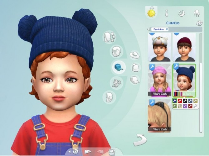 Sims 4 Pumped Up Pom Pom Hat for Toddlers at My Stuff