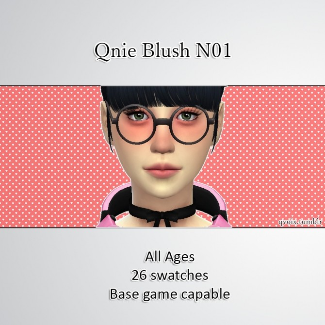 Qnie Blush N01 at qvoix – escaping reality image 1155 670x670 Sims 4 Updates