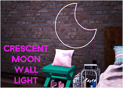 Crescent Moon Wall Light by Sympxls at SimsWorkshop image 11611 Sims 4 Updates