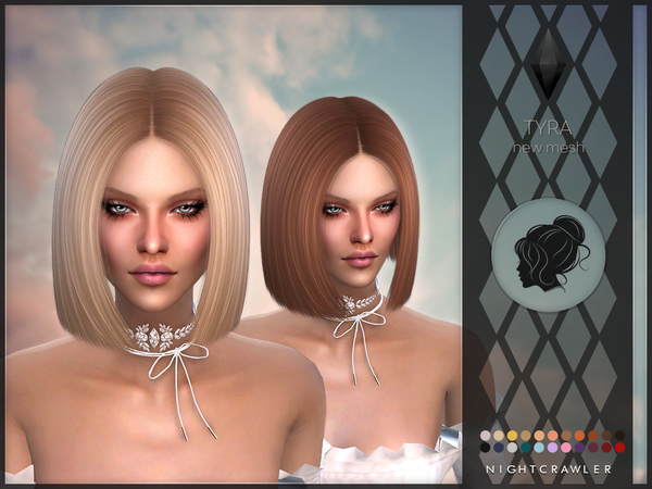 Tyra hair by Nightcrawler at TSR image 11613 Sims 4 Updates