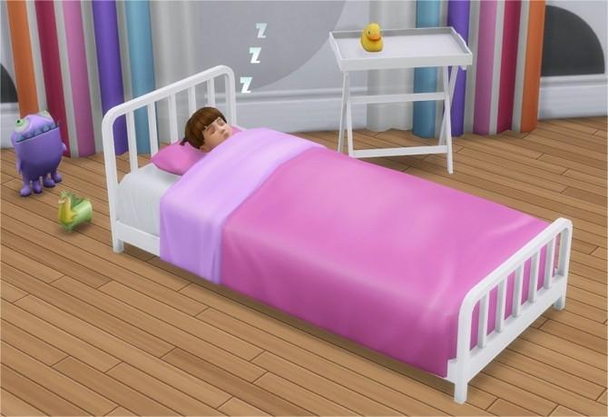 Sims 4 Toddler Metal Bed Frame & Mattress at Veranka