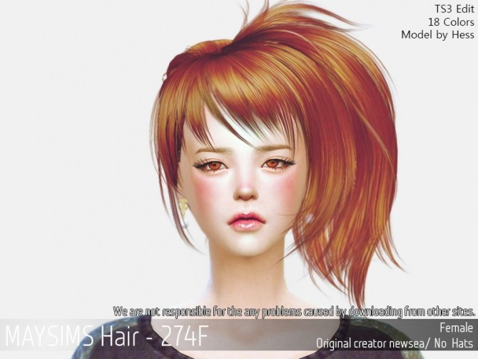 Hair 274F (Newsea) at May Sims image 118 670x503 Sims 4 Updates