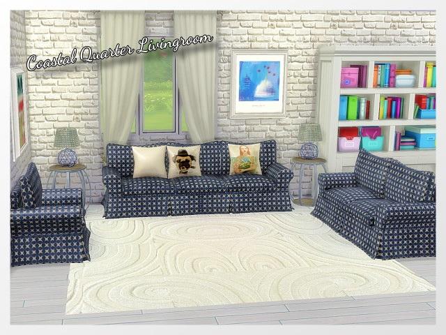 CoastalQuarter Livingroom by Oldbox at All 4 Sims image 1203 Sims 4 Updates