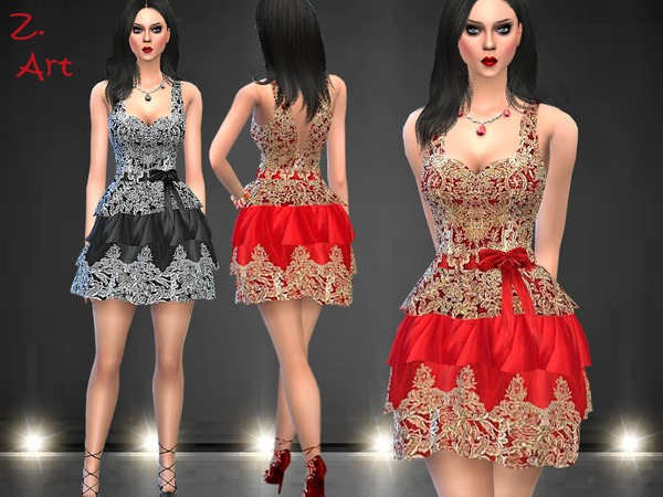 VintageZ 02 luxurious dress by Zuckerschnute20 at TSR image 1220 Sims 4 Updates