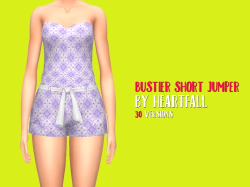 Bustier Short Jumper by heartfall at SimsWorkshop image 12212 Sims 4 Updates
