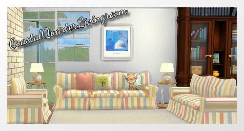 CoastalQuarter Livingroom by Oldbox at All 4 Sims image 1223 Sims 4 Updates