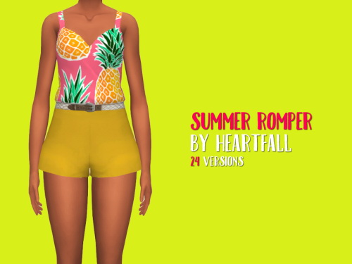 Summer Romper by heartfall at SimsWorkshop image 12410 Sims 4 Updates