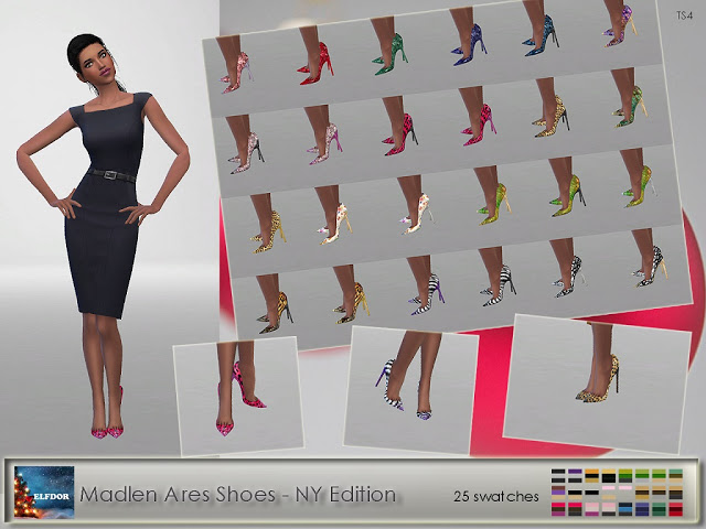 Sims 4 Madlen Ares Shoes Patterns at Elfdor Sims