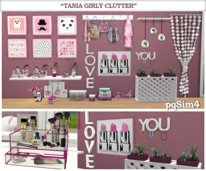Tania Girly Clutter by Mary Jiménez at pqSims4 image 12511 670x558 Sims 4 Updates