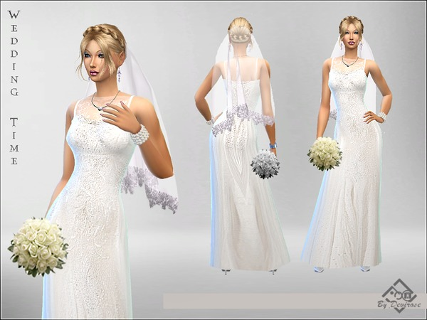 Wedding Time Dress by Devirose at TSR image 1260 Sims 4 Updates