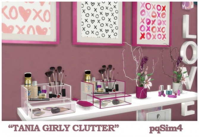 Tania Girly Clutter by Mary Jiménez at pqSims4 image 1262 670x463 Sims 4 Updates
