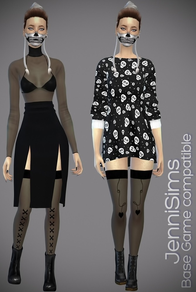 Bodysuit set + Stockings at Jenni Sims image 1268 670x996 Sims 4 Updates