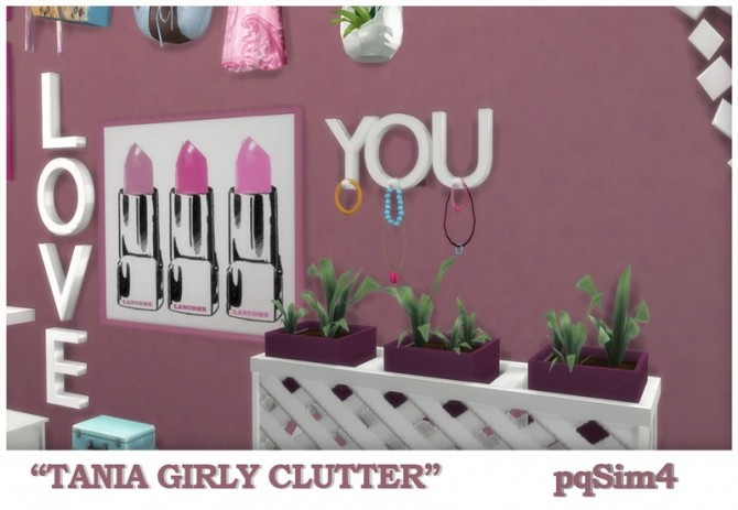 Tania Girly Clutter by Mary Jiménez at pqSims4 image 1272 670x463 Sims 4 Updates