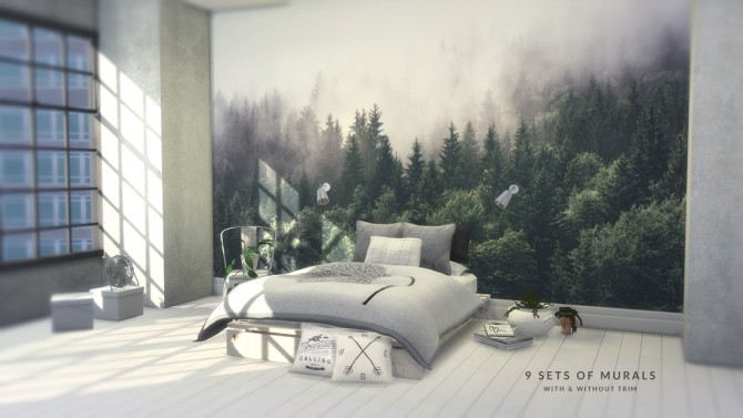 FOREST MURAL SET at Love9Souls image 12813 670x377 Sims 4 Updates