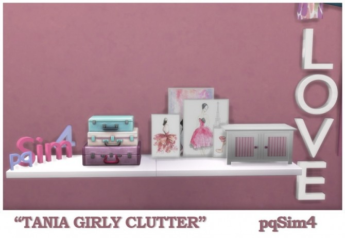 Tania Girly Clutter by Mary Jiménez at pqSims4 image 1282 670x463 Sims 4 Updates