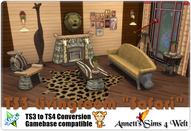 TS3 to TS4 Safari Livingroom Conversion at Annett's Sims 4 Welt image 13110 Sims 4 Updates
