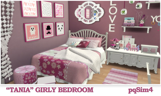Tania Girly Bedroom at pqSims4 image 1316 Sims 4 Updates