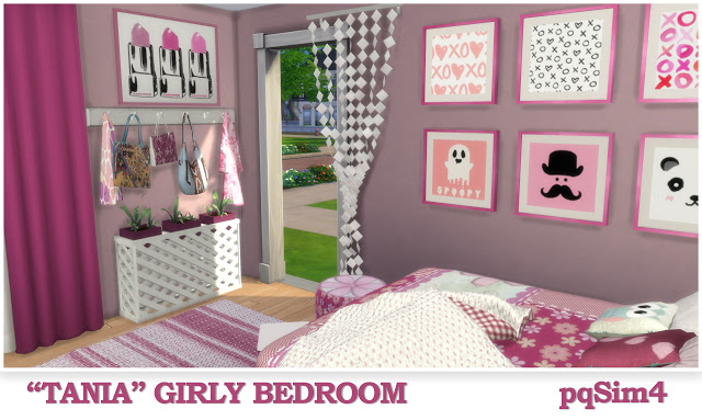 Tania Girly Bedroom at pqSims4 image 1324 Sims 4 Updates