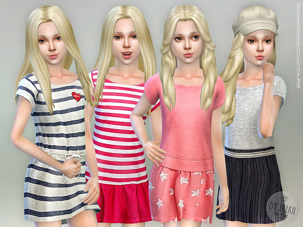 Sims 4 Designer Dresses Collection P68 by lillka at TSR