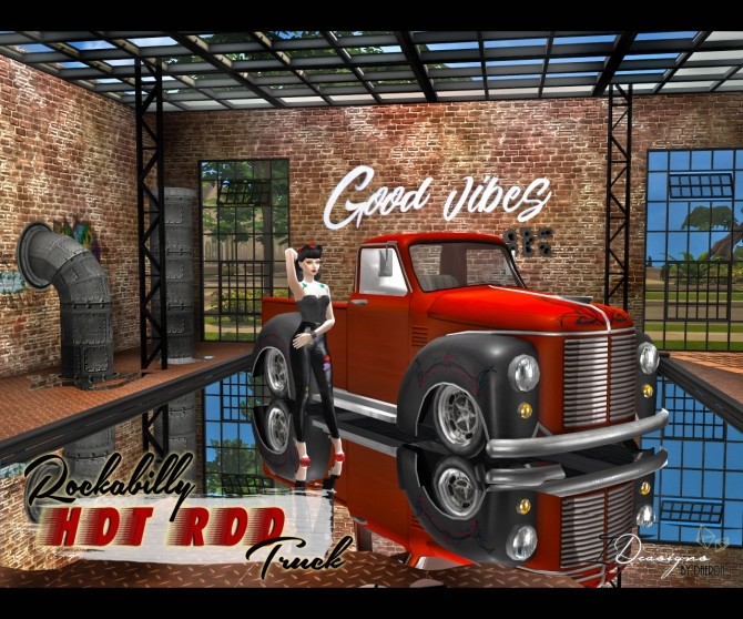 3T4 Rockabilly Hot Rod Truck at Daer0n – Sims 4 Designs image 1332 670x558 Sims 4 Updates