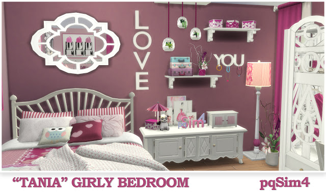 Tania Girly Bedroom at pqSims4 image 1334 Sims 4 Updates