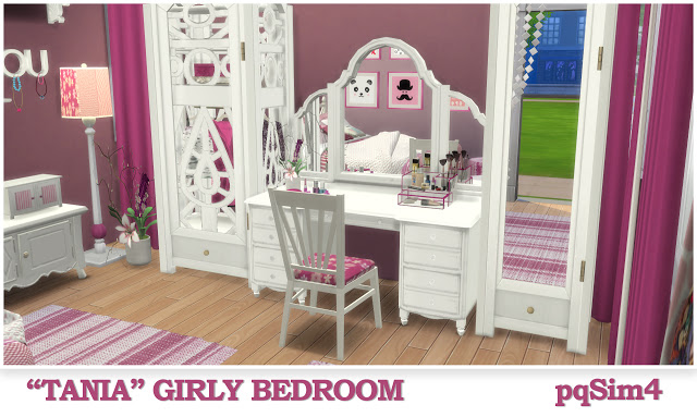 Tania Girly Bedroom at pqSims4 image 1344 Sims 4 Updates
