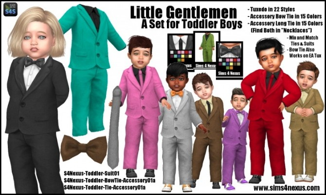 Little Gentlemen Toddler Set at Sims 4 Nexus image 1345 670x402 Sims 4 Updates