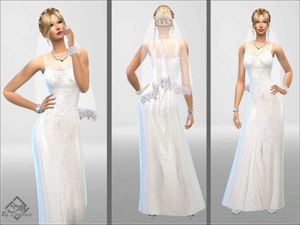 Wedding Time Dress by Devirose at TSR image 1350 Sims 4 Updates