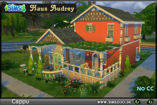 Sims 4 Audrey house by Cappu at Blacky's Sims Zoo