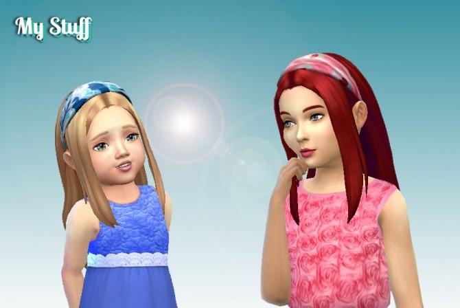 Sims 4 Weekend Headband Hair Conversion at My Stuff