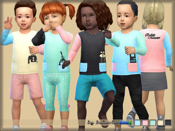 Sims 4 Sweater Rabbit Monster by bukovka at TSR