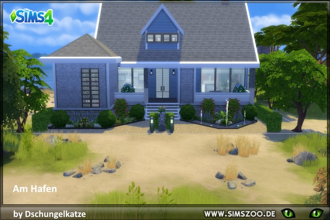 Sims 4 AmHafen house by Dschungelkatze at Blacky's Sims Zoo