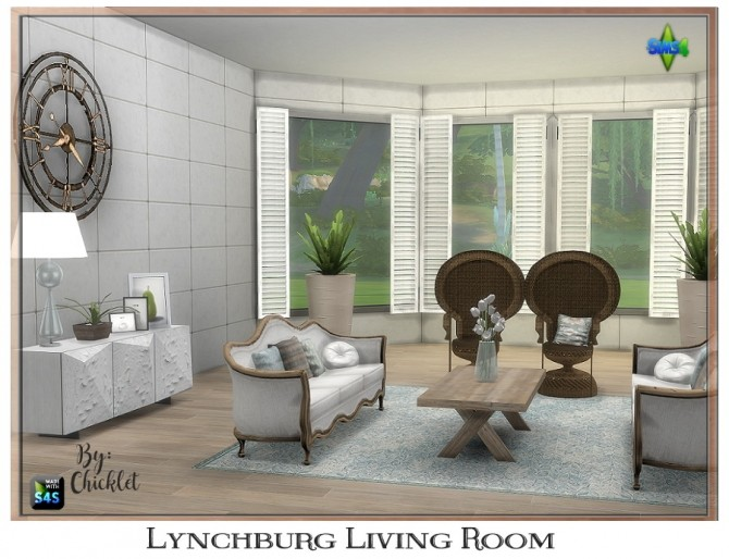 Sims 4 Lynchburg Living Room at Chicklet's Nest