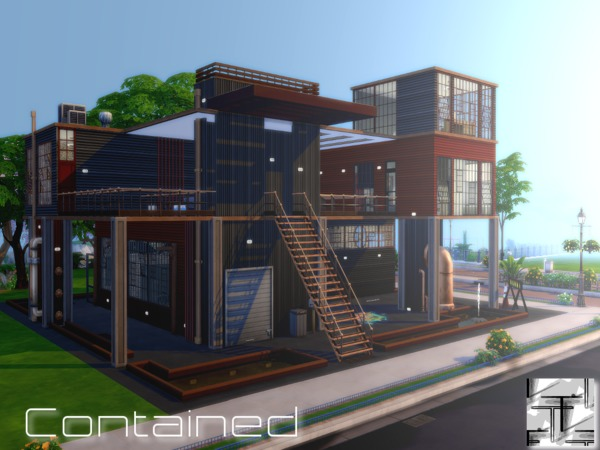 Contained house by Torque3 at TSR image 1398 Sims 4 Updates