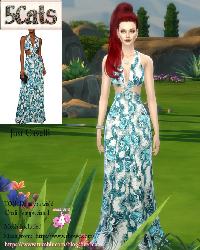 Twisted Halter Dress at 5Cats image 1406 670x838 Sims 4 Updates