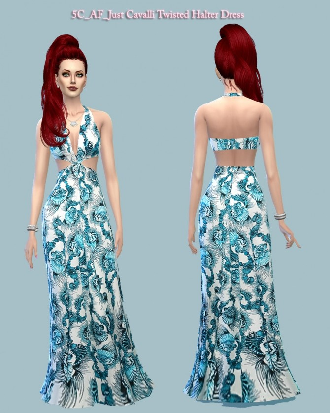 Twisted Halter Dress at 5Cats image 14112 670x838 Sims 4 Updates