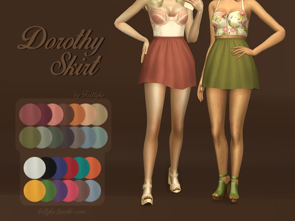 Sims 4 Dorothy Skirt by Trillyke at TSR