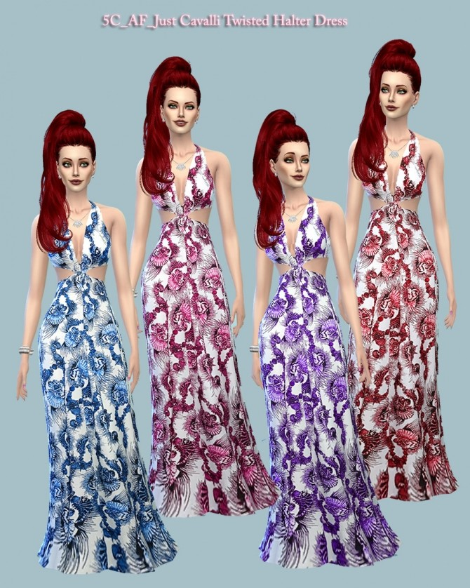 Twisted Halter Dress at 5Cats image 14210 670x838 Sims 4 Updates