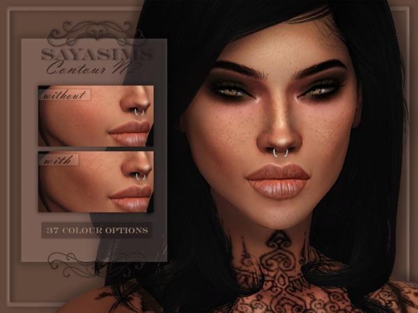 Sims 4 Contour N2 by SayaSims at TSR