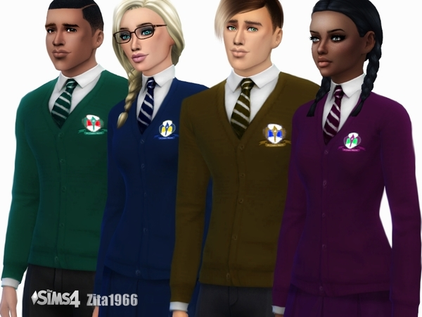 Sims 4 Teen School Uniform by ZitaRossouw at TSR